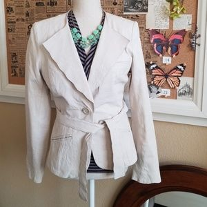 Anthropologie Elevenses Soft Leather Blazer - S